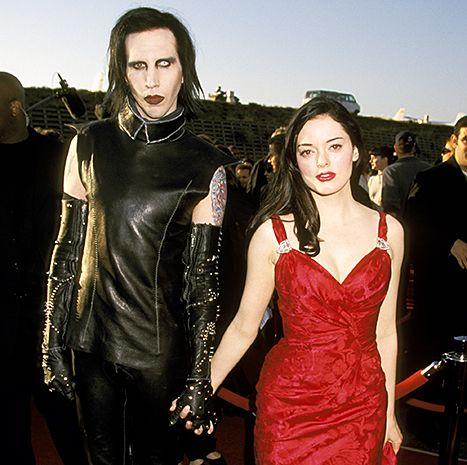 Marilyn Manson and Rose McGowan 1999 MTV Movie Awards