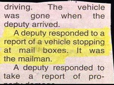 20 crazy funny police reports