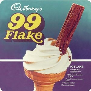 A 99 Ice cream with a flake was such a delicious treat back in the day❣️