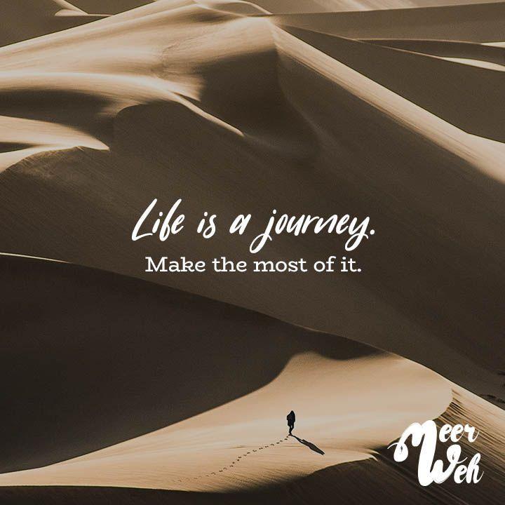 Visual Statements® Das Leben ist eine Reise. Mach das Beste daraus. Sprüche / Zitate   – Quotes