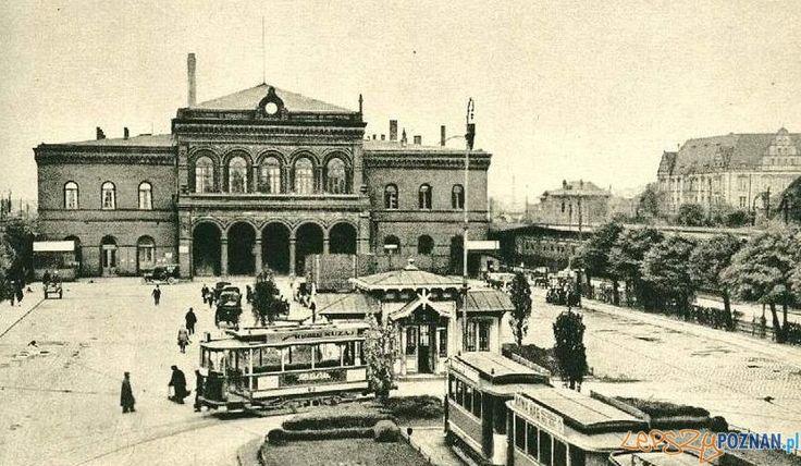 Dworzec kolejowy w Poznaniu, 1924 r Foto: