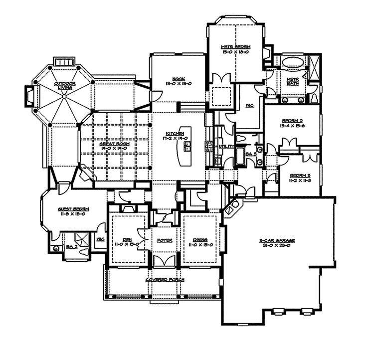 41 best floor plans images on pinterest floor plans for Arts and crafts bed plans