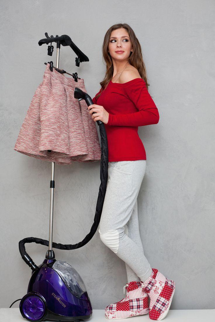 Klaudia Halejcio with SteaMaster! #steamaster #ironing #iron #klaudiahalejcio #celebrities #star #lifestyle