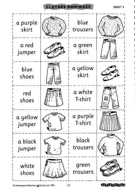 Resultado De Imagen Para Colorear Prendas De Vestir Ingles Ingles