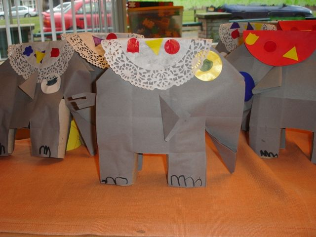 Knutselen: Circusolifant vouwen