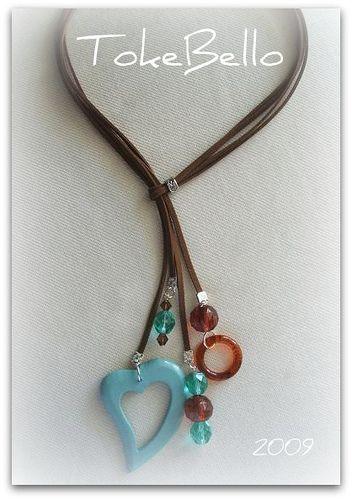 Collar cuero marrón y aqua - Magna | Flickr: Intercambio de fotos