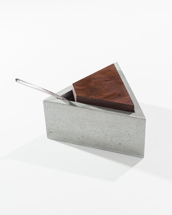 Triangle Concrete Sugar Box with Dark American by INSEKDESIGN