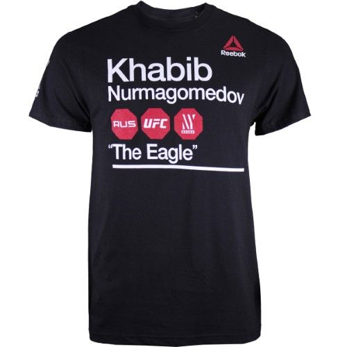 Presunto Deber Amarillento  Reebok Khabib Nurmagomedov UFC 205 Fighter Subway Shirt - Black - Small,  Men's | Mens tops, Shirts, Shopping
