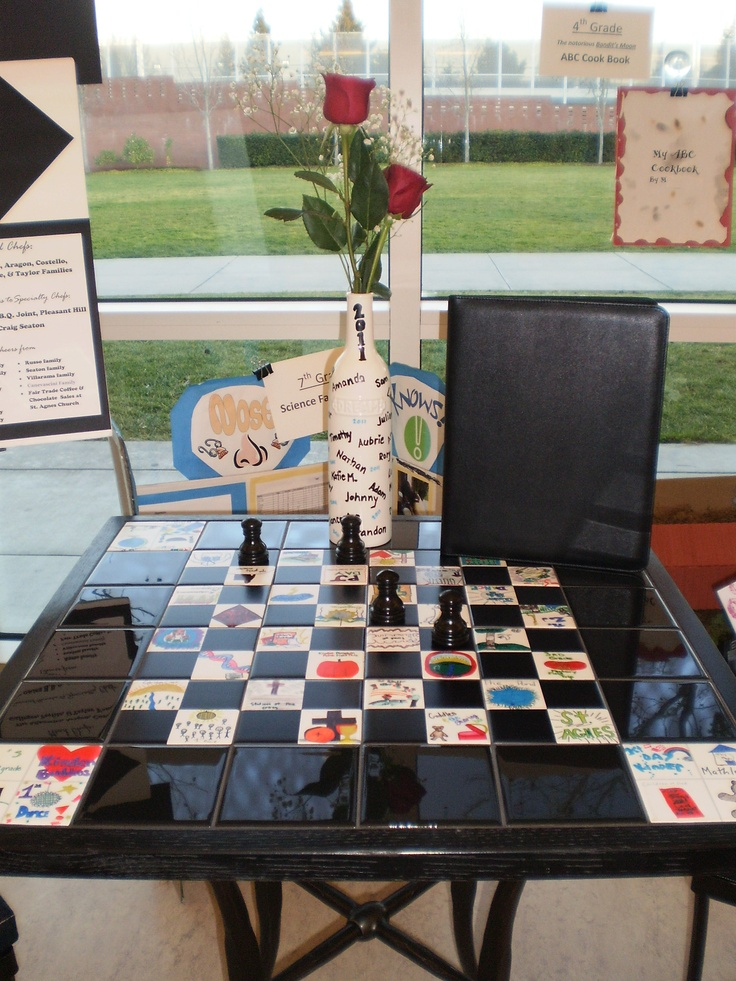 chess board for class auction
