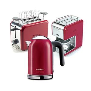 #kitchen #coffe #kahve makinesi #ekmek kızartma #toaster #kettle #colorful #renkli #red #kırmızı