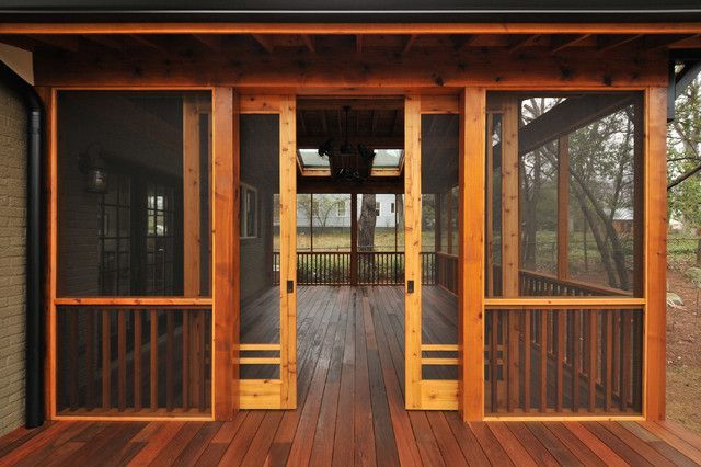 Craftsman Sliding Screen Porch Panels - Innovative Construction, Inc., General Contractors, Atlanta, via Houzz