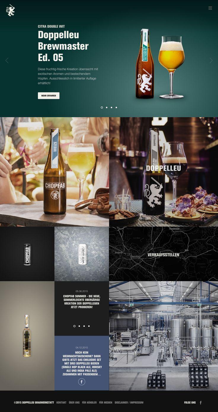 Neue Biere, neuer Webauftritt Doppelleu Brauwerkstatt  #webdesign #hinderlingvolkart #design #indentity #ux #ui #beer #drinks #product