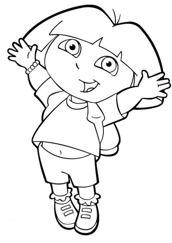 Dora The Explorer Coloring Pages And A Book Coloring Pages For