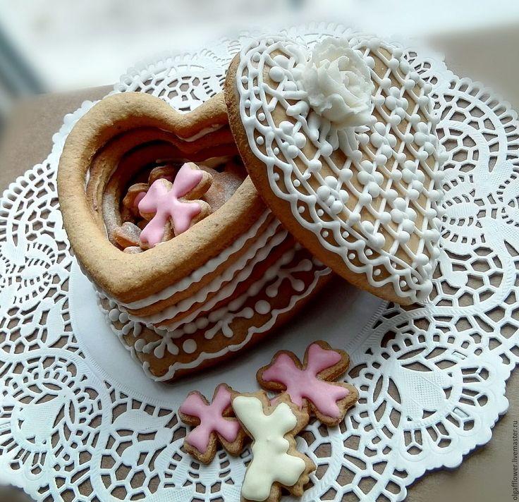 Купить Пряничная шкатулка - подарок, сувенир, пряник, шкатулка, шкатулка в подарок, шкатулка для мелочей