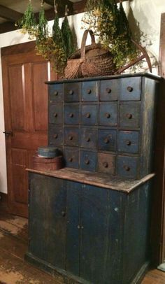 Primitive Herbalist Cabinet, LOVE this!