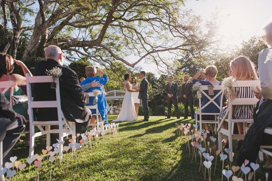 Edward and Emma's Vintage Chic Inspired Hinterland Queensland WeddingPhotographer: Todd Hunter McGaw Spicers Clovelly Estate