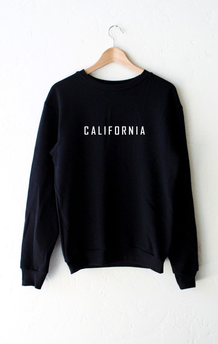 - Description - Size Guide Details: Relax in our super cute oversized sweatshirt in black with print 'California' on front center. Brand: NYCT Clothing. Unisex, oversized/loose fit. Model is wearing a