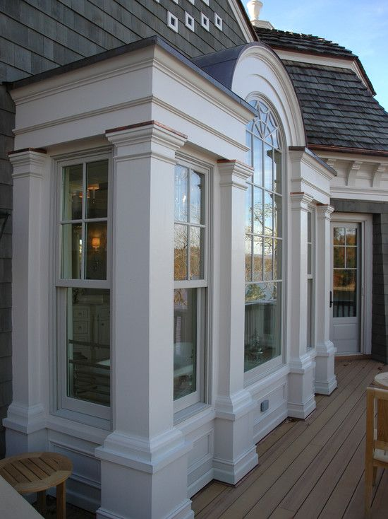 71 best lake house renovation ideas images on pinterest for Arched bay windows