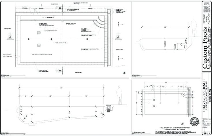 Image for swimming pool designs and plans in 2019 for Pool design drawings