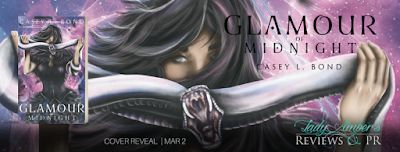 Glamour of Midnight Cover Reveal with Casey L Bond    Title: Glamour of Midnight  Author: Casey L. Bond  Genre: YA Epic Fantasy Fairy Tale Retelling   Editor: Stacy Sanford/ The Girl with the Red Pen  Cover Designer: Melissa Stevens/ The Illustrated Author Design Services  Publication Date: April 5th 2018  Hosted by: Lady Ambers PR  Blurb:  Nineteen-year-old Karis has been blind since birth but for some reason she can see through the wall of smoke that separates the human lands from those of…
