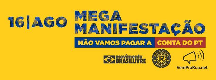 Canadauence TV: Informe: Manifestação Vem Pra Rua Brasil, dia 16 A...