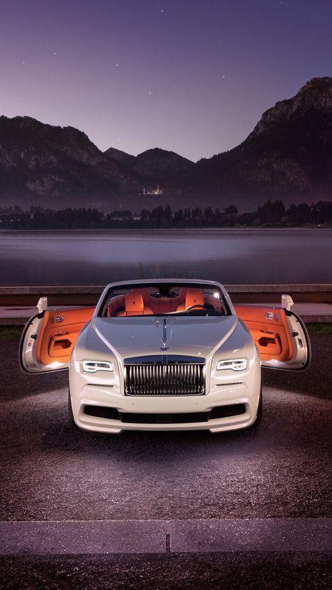 White Rolls Royce Dawn Front 2018 720x1280 Wallpaper Cars