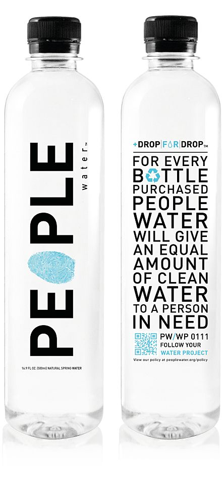 People Water. It's good to drink water & help others as well <3 They would die for a sip.