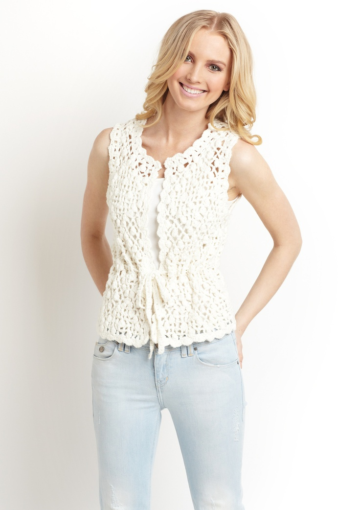 JUICY COUTURE Crochet Vest.  Adorable!