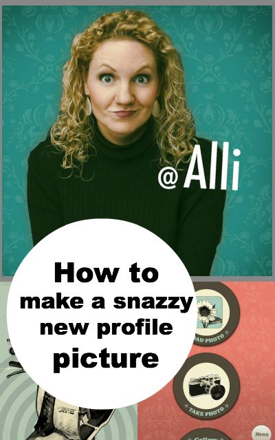 Fun Trend Alert: How to Make a Snazzy New Profile Picture by @Alli