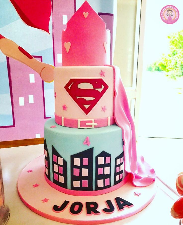 "68 Likes, 2 Comments - We Came Here To Party (@wecameheretopartyaus) on Instagram: ""💥Super Jorja💥 Pink Super Girl cake for a special Four year old!"""