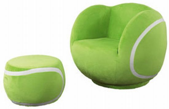 Relax grand slam style with this tennis ball chair and footstool!