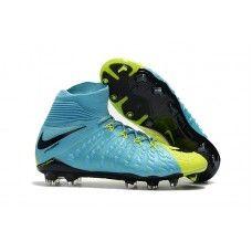 Cheap Nike Hypervenom Phantom III DF FG High Top Soccer Cleats -  Green/Black/