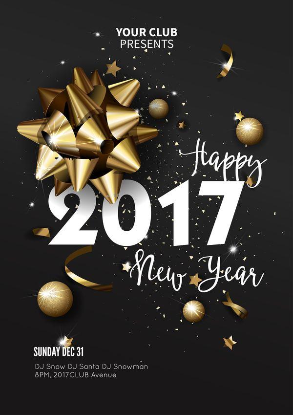 25+ ide terbaik New year 2017 poster di Pinterest Resolusi 2015 - new year poster template