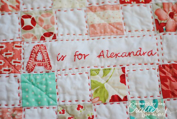 modern quilt ideas | ... working on getting my hand quilting straight so don't look too close Love the hand work!