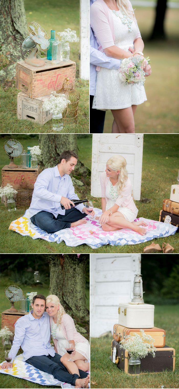Vintage Country Engagement Shoot.....that dress, that sweater, that necklace.....love it all for me