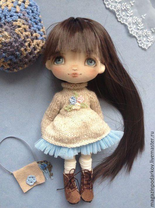 Коллекционные куклы ручной работы. Ярмарка Мастеров - ручная работа. Купить Куколка малышка Лера. Handmade. Голубой, для дома и интерьера