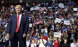 """Will the Republican party survive Donald Trump? Trump is trailing Hillary Clinton badly in national polls, sometimes by double digits. Jubilant Democrats are eyeing so-called """"red states"""" such as Georgia and Utah and expanding their ambitions to take both the Senate and House. The Trump campaign has yanked advertising and staff out of Virginia, and major donors are pulling the plug. The writing seems to be on the wall of polling firms, campaign offices and newsrooms across the country."""