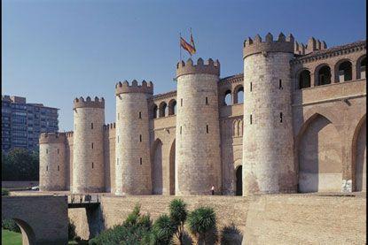 Palacio de la Aljafería, Zaragoza, España.