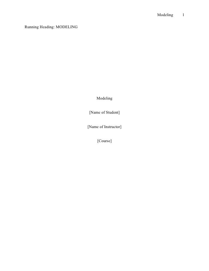 Apa section headings research paper