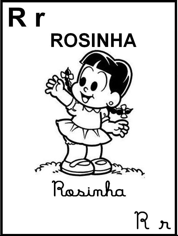 Alfabeto Ilustrado Turma Da Monica Rosinha Monica Para Colorir