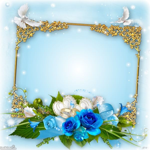 And Blue Borders Frames Love