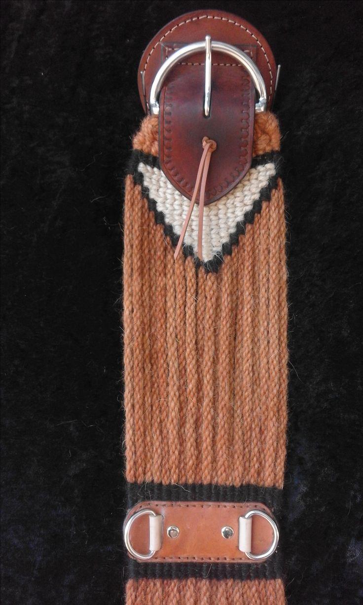 Custom 100% Mohair Cinch by Lightning Ridge Custom leather & Mohair