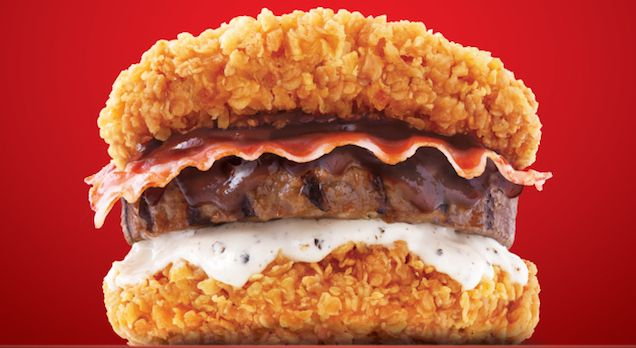I. Want. ASAP! => The new Double Down burger is even more ridiculous than the original