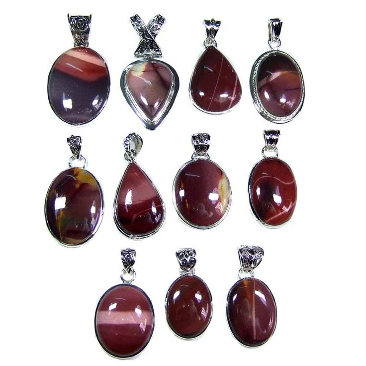 Silver Jewelry Pendants Lot With Mokite Gemstones  Price $USD   285  Weight 250 gms