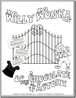 printable coloring pages willy wonka - photo#19