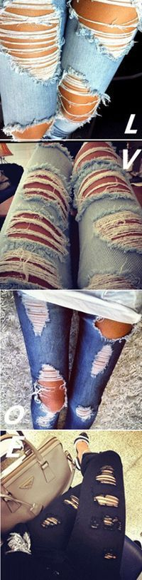 I think jeans that make you look like a cute version of homeless are the best jeans