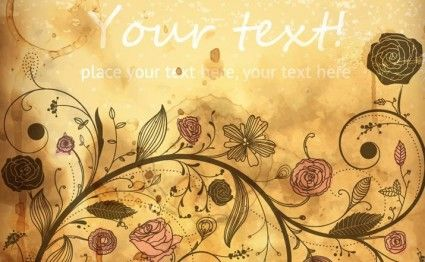 Vintage Vector Floral Background