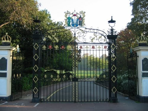 Entrance to Priory Park, Southend on Sea, Essex