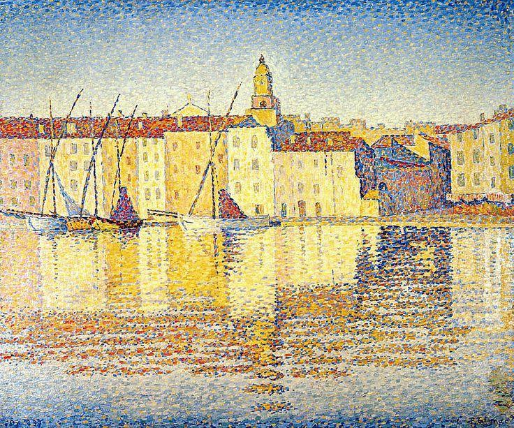 Houses in the Port, Saint-Tropez, 1892. Paul SIGNAC