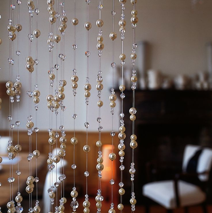how to make crystal curtains at home